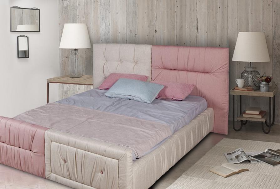 Κρεβάτι διπλό επενδυμένο Estel