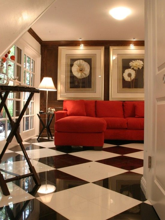 κόκκινο γωνιακό σαλόνι